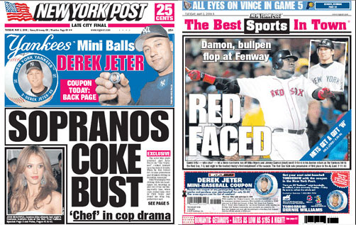 5.2.06: New York Post front and back covers