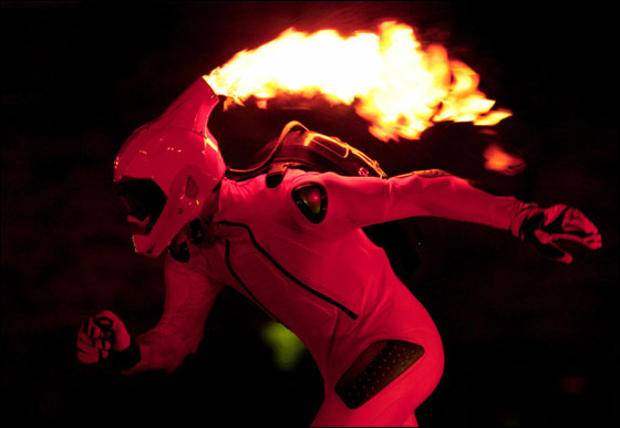 A performer takes part in the opening ceremony of the Torino 2006 Winter Olympic Games in Turin, Italy, February 10, 2006.