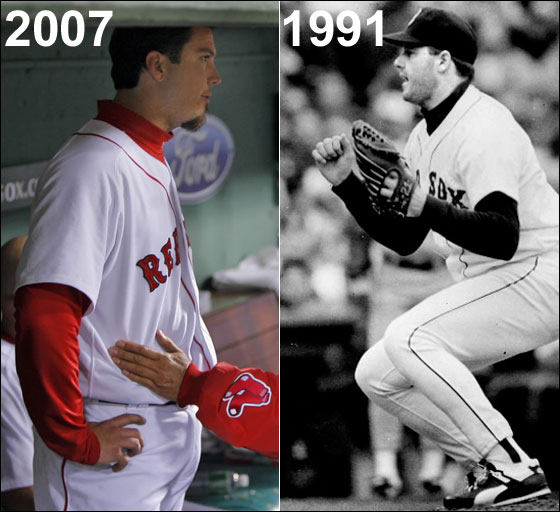Josh Beckett, May 2, 2007, Roger Clemens, April 13, 1991