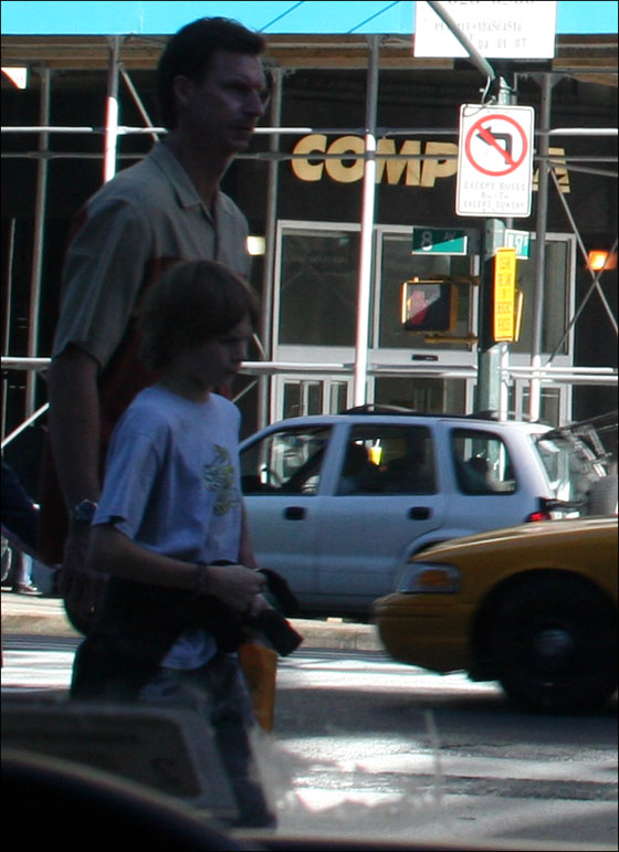 Randy Johnson shopping on 8th Avenue in Manhattan, Sunday Oct. 8