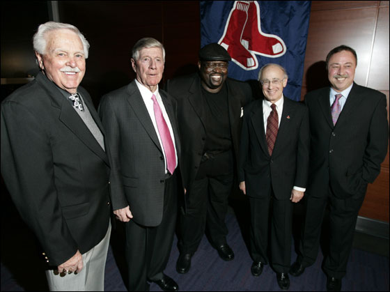 The Red Sox Hall of Fame welcomed its 2006 inductees at The Boston Convention and Exhibition Center. Left to right; Dick Williams, Joe Morgan, George Scott, Dick Bresciani, and Jerry Remy.