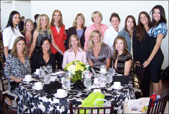 Boston Red Sox wives who attended the Say It With Flower Luncheon presented by Shonda Schilling and Dawn Timlin