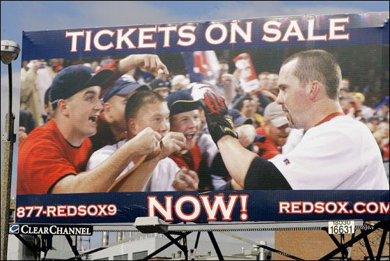 Dennis Thomson on Red Sox billboard
