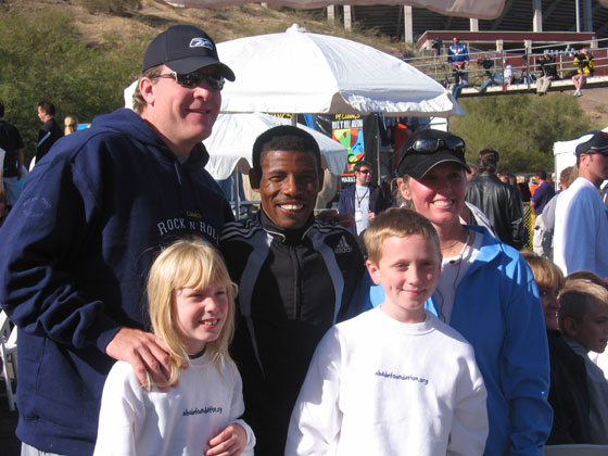 The Schillings and Haile Gebrselassie