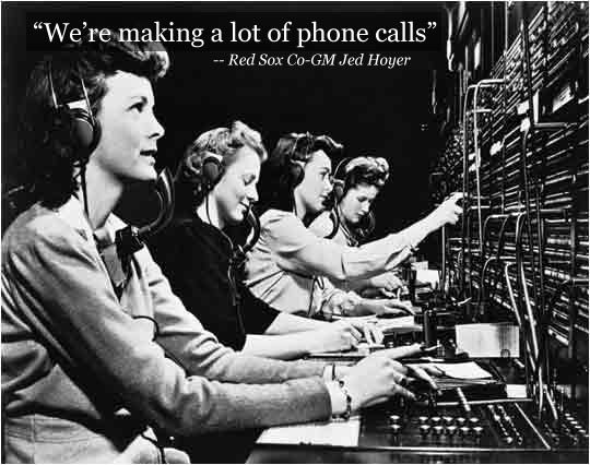 The Busy Switchboard Room at Fenway Park