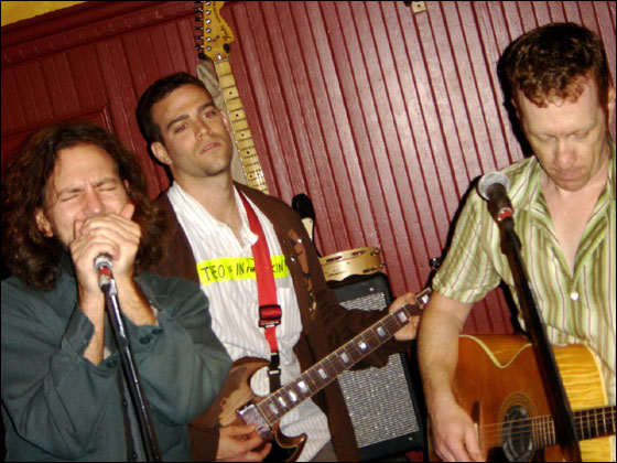 Eddie Vedder, Theo Epstein, and Bill Janovitz at Toad on Thursday night