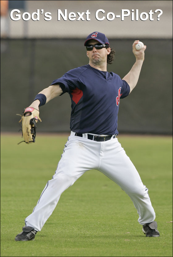 Cleveland Indians outfielder Trot Nixon throws during a spring training baseball workout Tuesday, Feb. 27, 2007 in Winter Haven, Fla.