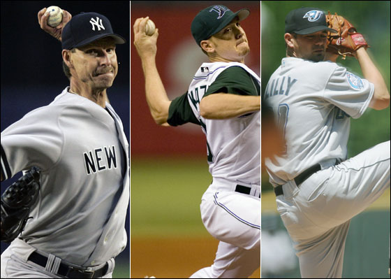 Randy Johnson, Scott Kazmir, Ted Lilly
