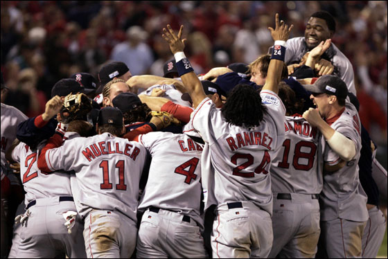Sox win 2004 World Series