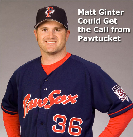 Matt Ginter of the PawSox