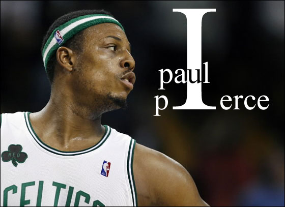 11.13.06: Celtics captain Paul Pierce watches the Magic celebrate just as the final horn sounds in the visitor's victory over Boston.