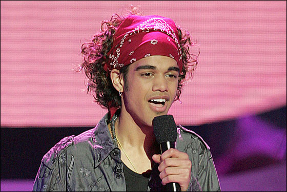In this photo made available by Fox Television, Sanjaya Malakar performs Tuesday, April 17, 2007 on the set of