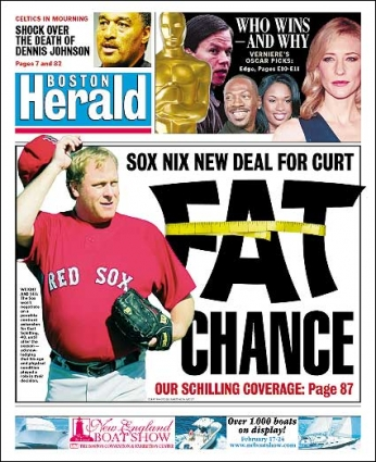 2.23.07: Boston Herald Front Page