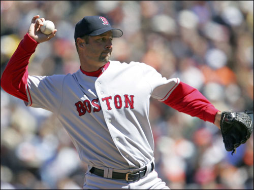 Tim Wakefield gave up one unearned run in six innings against Baltimore.