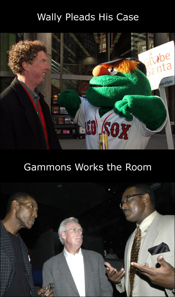 Wally the Green Monster and Peter Gammons