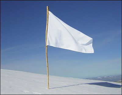 Waving the white flag
