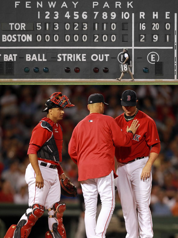 It was an early exit for Boston Red Sox starting pitcher Jon Lester