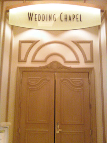 Wedding chapel at a Las Vegas hotel