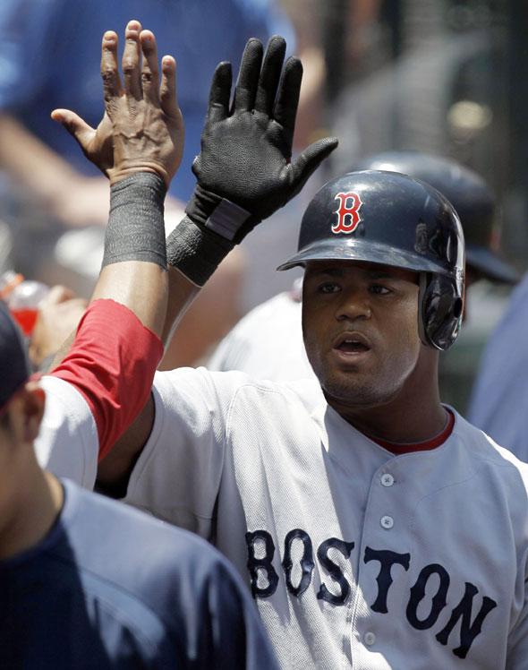Carl Crawford will be playing outfield for the Boston Red Sox