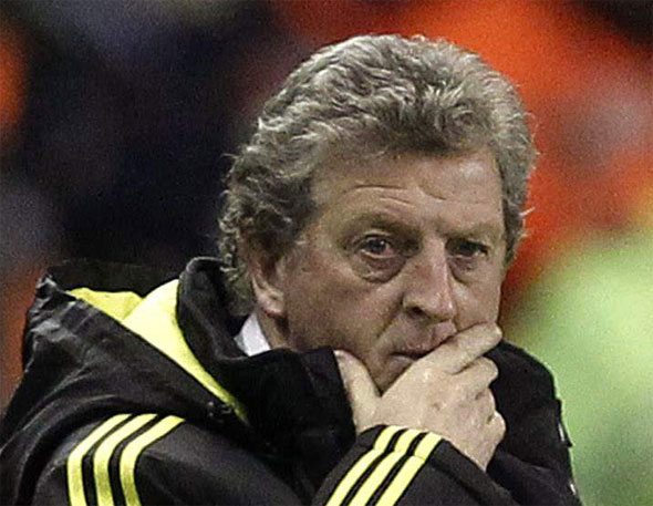 Liverpool's manager Roy Grady Little Hodgson watches from the touchline during their Europa League Group K soccer match against FC Utrecht at Anfield in Liverpool, northern England, December 15, 2010.