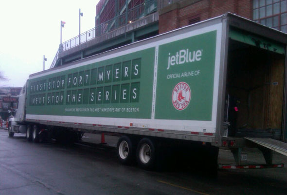Red Sox equipment truck gets loaded