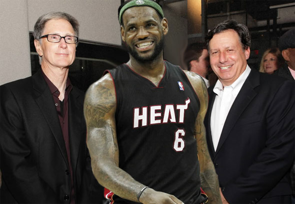 The James Gang John  Henry, LeBron James, Tom Werner