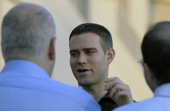Red Sox general manager Theo Epstein talks to reporters during a media availability session during baseball general managers meetings in Lake Buena Vista, Fla., Tuesday, Nov. 16, 2010.