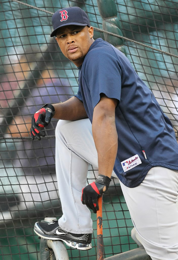 Adrian Beltre of the Boston Red Sox waits to hit during batting practice prior to the game against the Seattle Mariners at Safeco Field on September 13, 2010 in Seattle, Washington.