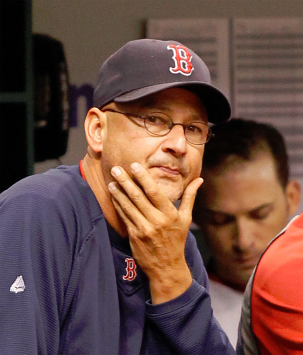 Terry Francona watches the sinking ship