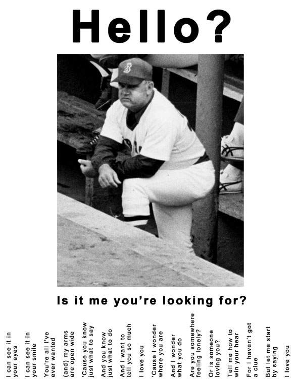 Don Zimmer in the dugout during the 1978 collapse