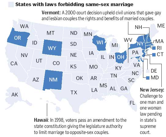 Gay marriage by state