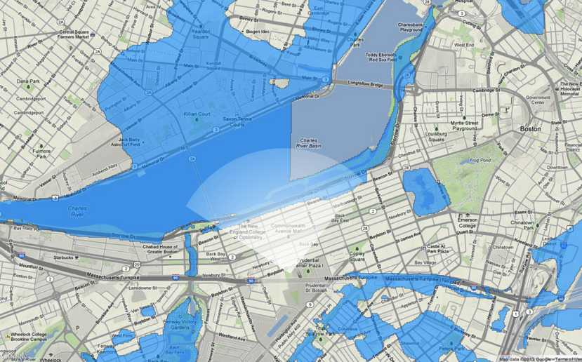 Boston Underwater How The Rising Sea Levels Will Affect The City - Sea rising map