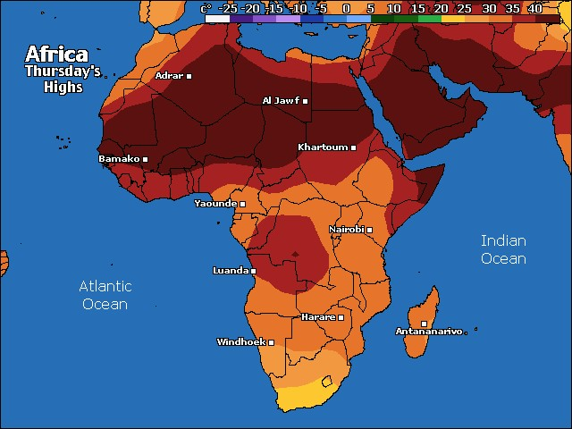 Africa high temps