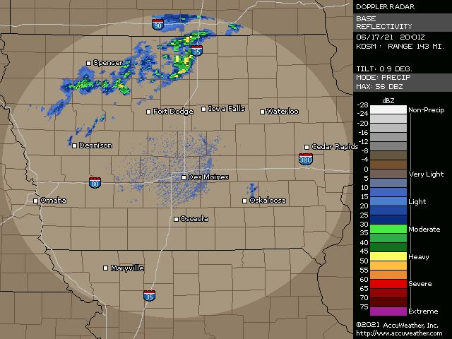 Des Moines, Iowa, doppler radar
