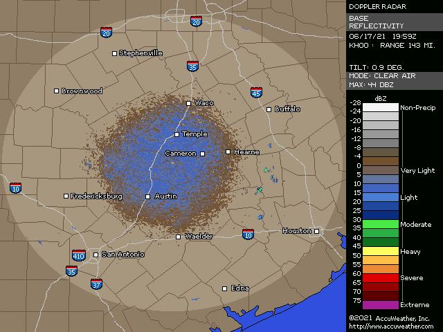 Austin, Texas, doppler radar
