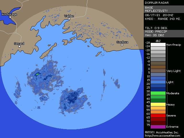 Middleton Island, Alaska, doppler radar