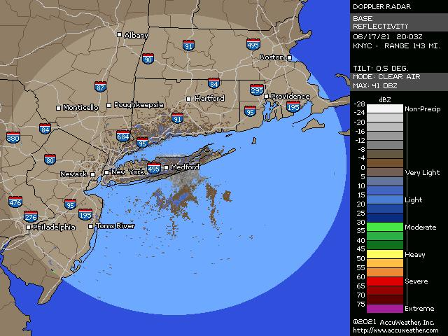 Greater New York City doppler radar