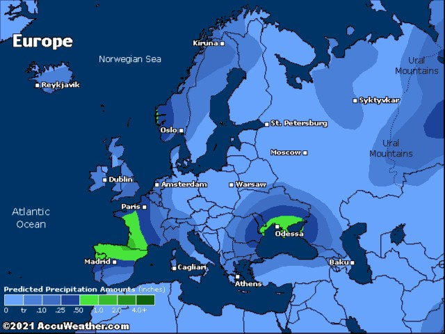 Europe precip.