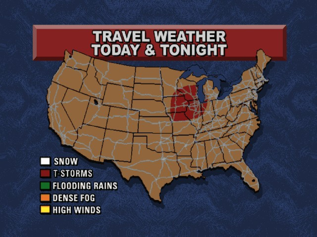 US travel weather
