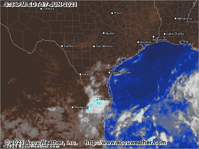 South Texas cloud cover