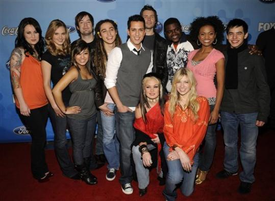 american idol contestants left. American Idol contestants rear