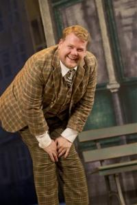 In this theater image released by Boneau/Bryan-Brown, James Corden is shown in a scene from 'One Man, Two Guvnors,' performing at the Music Box Theatre in New York. Producers of the James Corden-led play said Wednesday, Aug. 22, 2012, they have recouped its $3.25 million capitalization during the week ending Aug. 19.