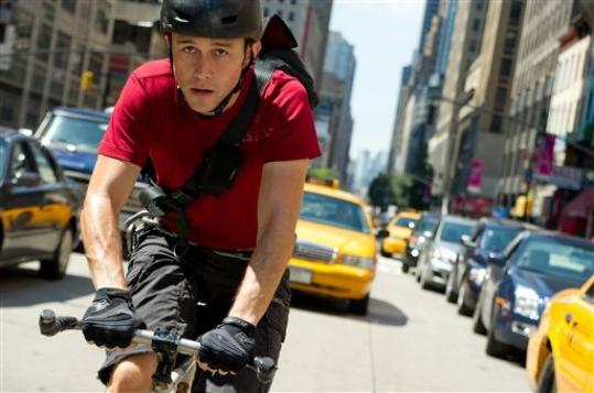 This film image released by Columbia Pictures shows Joseph Gordon-Levitt in a scene from 'Premium Rush.'