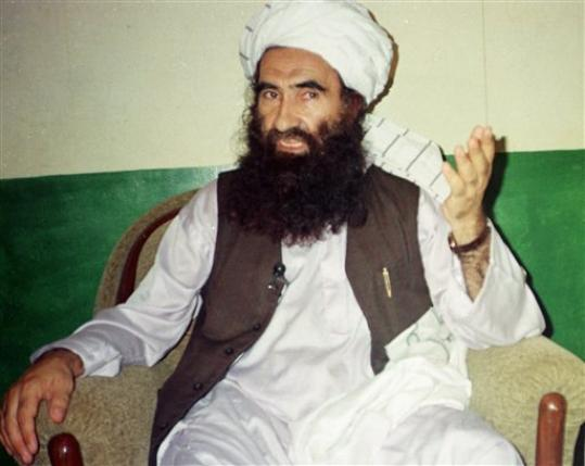 FILE- In this Aug. 22, 1998, file photo, Jalaluddin Haqqani, founder of the militant group the Haqqani network, speaks during an interview in Miram Shah, Pakistan. The Obama administration faces a weekend deadline to decide whether the Pakistan-based Haqqani network should be declared a terrorist organization, a complicated political decision as the U.S. withdraws from Afghanistan and pushes for a reconciliation pact to end more than a decade of warfare.