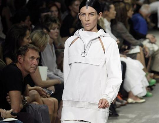 Liberty Ross models during the Alexander Wang Spring 2013 collection, during Fashion Week in New York, Saturday, Sept. 8, 2012.