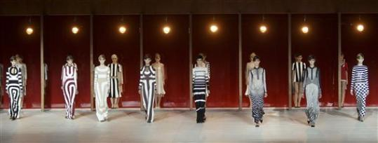 The Marc Jacobs Spring 2013 collection is modeled during Fashion Week in New York, Monday, Sept. 10, 2012.