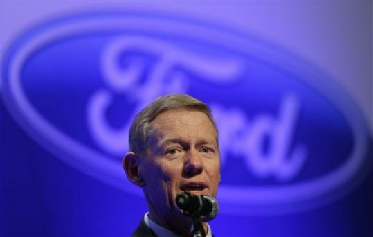 FILE- In this Friday, Aug. 31, 2012, file photo, Alan Mulally, the Global CEO of Ford Motor Co., answers reporters' question during news conference in Seoul, South Korea. Mulally, 67, joined Ford six years ago and appears close to retirement. Reports say he'll step down at the end of next year. Ford's board likely will discuss succession plans at a meeting Thursday, Sept. 13, 2012.