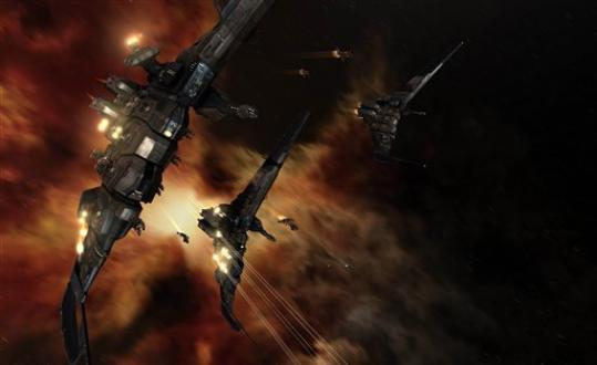 This undated publicity image provided by CCP Games shows a screenshot from the game 'EVE Online.' Sean Smith, the foreign service information management officer who was killed with three others in an attack on an American consulate in Libya, was remembered Wednesday, Sept. 12, 2012, also as an influential intergalactic diplomat. He was known online as the player 'Vile Rat' in the massively multiplayer game 'EVE Online,' which features more than 400,000 players captaining starships, buying and selling virtual goods, engaging in corporate espionage and electing a government composed of real-world pl