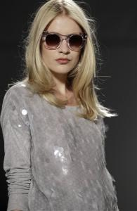 A model wears a design from the Rachel Zoe Spring 2013 collection at Fashion Week in New York, Wednesday