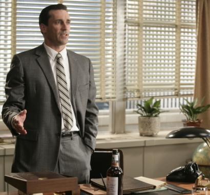 In 'Mad Men,' Jon Hamm plays an ad man working on a campaign to sell cigarettes as the health risks become known.